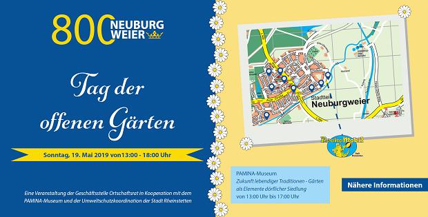 Dorfjubiläum, 800 Jahre, Neuburgweier, Rheinstetten, Tag der offenen Gärten